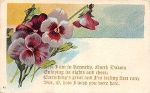 G66/ Kennedy North Dakota Postcard c1910 Poem from Kennedy N.D.