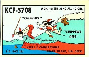 QSL Radio Card From Grand Island Fla. Florida KCF-5708