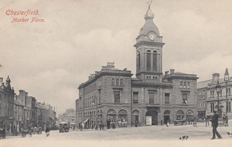CHESTERFIELD , Derbyshire , England , 1907 ; Market Place