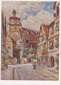 Germany Rothenburg Weisser Turm und Judentanzhaus