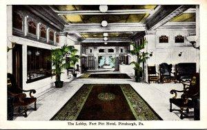 Pennsylvania Pittsburgh Fort Pitt Hotel The Lobby