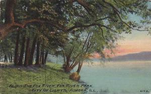 Along the Fox River, Fox River Park, Aurora, Illinois, PU-00-10