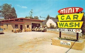 Hendersonville NC Minit Wash & Wax Old Cars Postcard