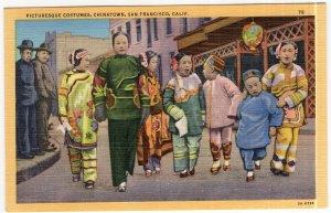San Francisco, Calif, Picturesque Costumes, Chinatown