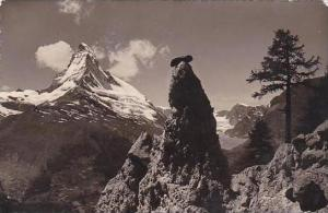 Switzerland Landschaft bei Zermatt Matterhorn Real Photo