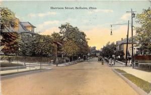 E23/ Bellaire Ohio Postcard 1911 Belmont County Harrison Street Homes