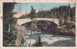 Yellowstone National Park Chittenden Bridge Over Yellowstone River At Upper F...