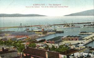 gibraltar, The Dockyard, Harbour, Part of British and American Fleet (1910s)