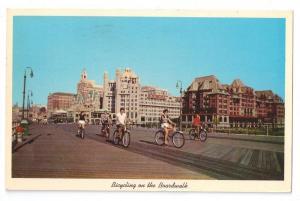 Atlantic City NJ Boardwalk Hotels Bicycling Curteich