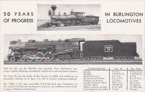 50 Years Of Progress In Burlington Locomotives
