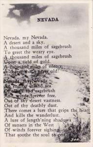 Nevada A Poem Of Nevada