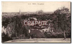 Old Postcard Metz General view
