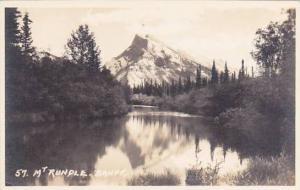 Canada Alberta Banff Mount Rundle Real Photo