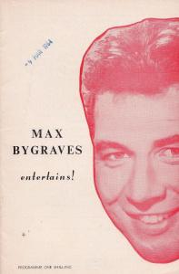 Max Bygraves Entertains Nottingham Live Concert Programme