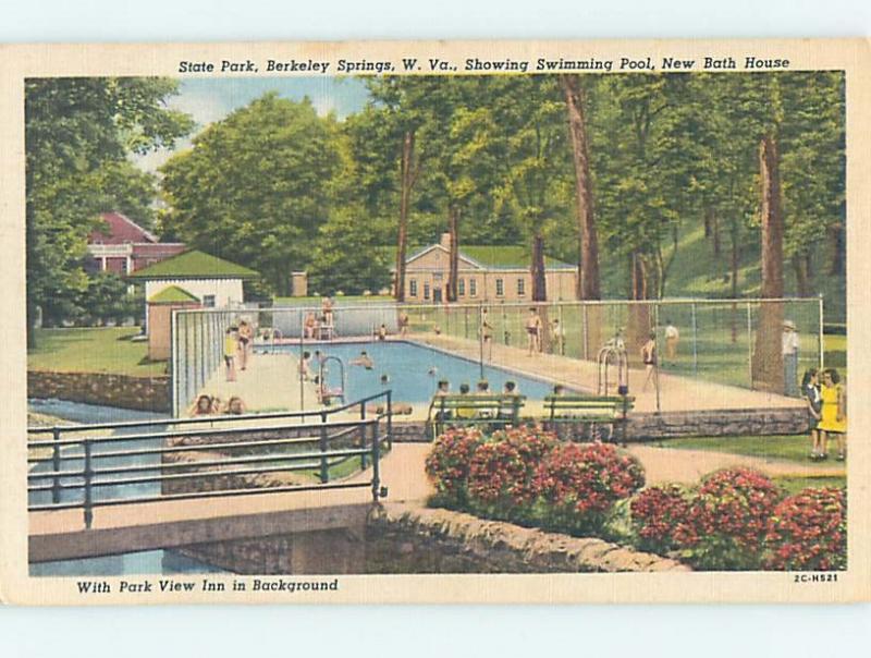 Linen With Swimming Pool At Parkview Inn Hotel Berkeley Springs Wv Hk6528
