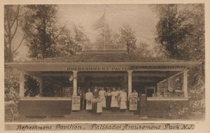 Palisades Amusement Park, New Jersey, 1900-1910's; Ice Cream Refreshment Stand