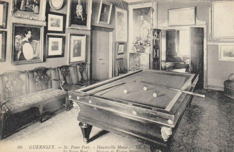 GUERNSEY , 00-10s ; St Peter Port, Hauteville House - Pool Table , Billiards