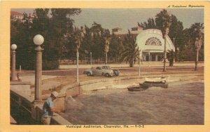Clearwater Florida 1940s Municipal Auditorium Postcard Mitchell Dexter 20-2018