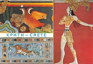 Greece Crete Ancient Wall Paintings Kreta