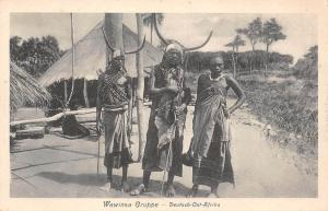 German East Africa Tanzania, Wawinsa Gruppe, Native People, Postcard