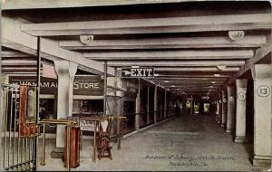 Philadelphia PA~13th Street Subway Station Gate~Wanamaker Department Store~c1910
