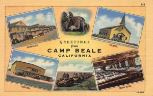 Greetings from Camp Beale, California, Early Postcard, Unused