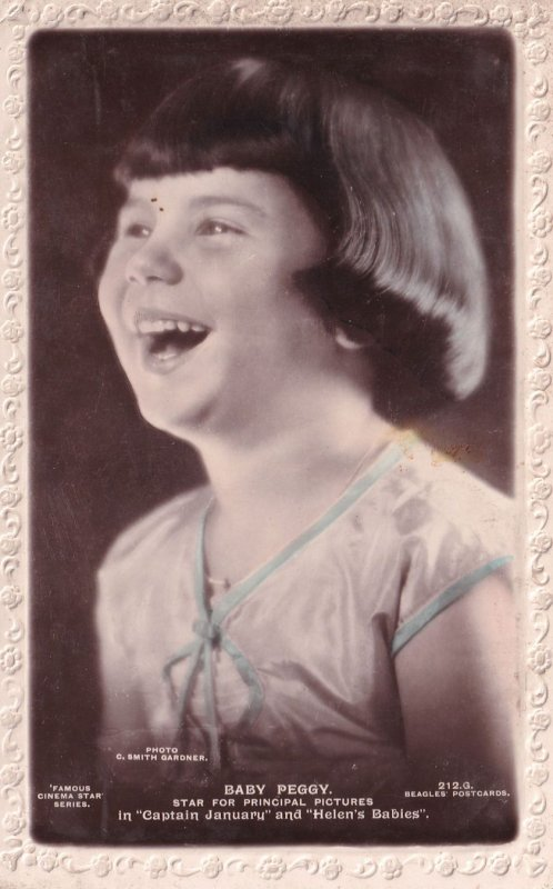 Baby Peggy in Captain January Child Film Star RPC Postcard