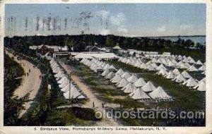 Plattsburgh military camp, PA, Pennsylvania, USA Military, War 1916 few creas...