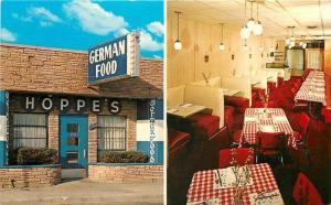 DEARBORN MICHIGAN 1950s Hoppe's Restaurant Interior roadside Thurn 3687