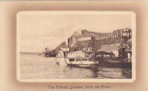 Steamship moored at pier, The Citadel, Quebec , Canada, 00-10s