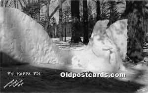 Phi Kappa Pshi Real Photo Dartmouth Winter Carnival 1940 Unused