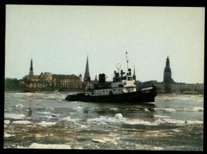 RIGA Drifting of Ice on the Daugava Latvia Photo Soviet Vintage Postcard