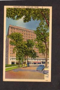 ME Eastland Motor Hotel Portland Maine Linen Postcard nr South Portland