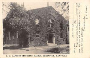 Lexington Kentucky Hansons Magazine Agency Exterior Antique Postcard K13739