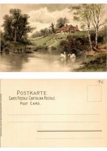 CPA Am Weiher Meissner & Buch Litho Serie 1189 (730426)