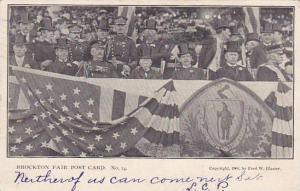 Massachusetts Brockton Fair Post Card No 14 Crowd In The Stands 1906