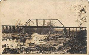 LP89 near Novinger Missouri Postcard RPPC   R. R. Bridge