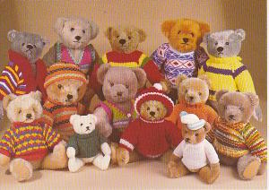 Group Of Teddy Bears From Steiff Hermann and Graham Gridley Companies