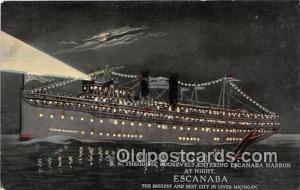 SS Theodore Roosevelt Escanaba, Michigan Ship Postcard Post Card Escanaba, Mi...