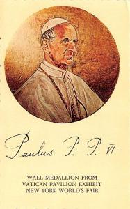 Post Card Old Vintage Antique Pope Paul VI Unused