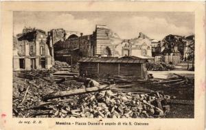 CPA Messina Piazza Duomo e angolo di via S.Giacomo . ITALY (495026)