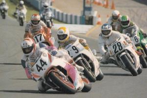 Grand Prix Motorcycle Race Racing Donington 1990 Postcard