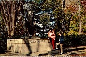 New York Ithaca Ezra Cornell Statue Cornell University 1972