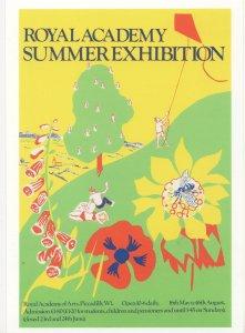 Frederick Gore Royal Academy Of Arts 1981 Exhibition Kite Postcard