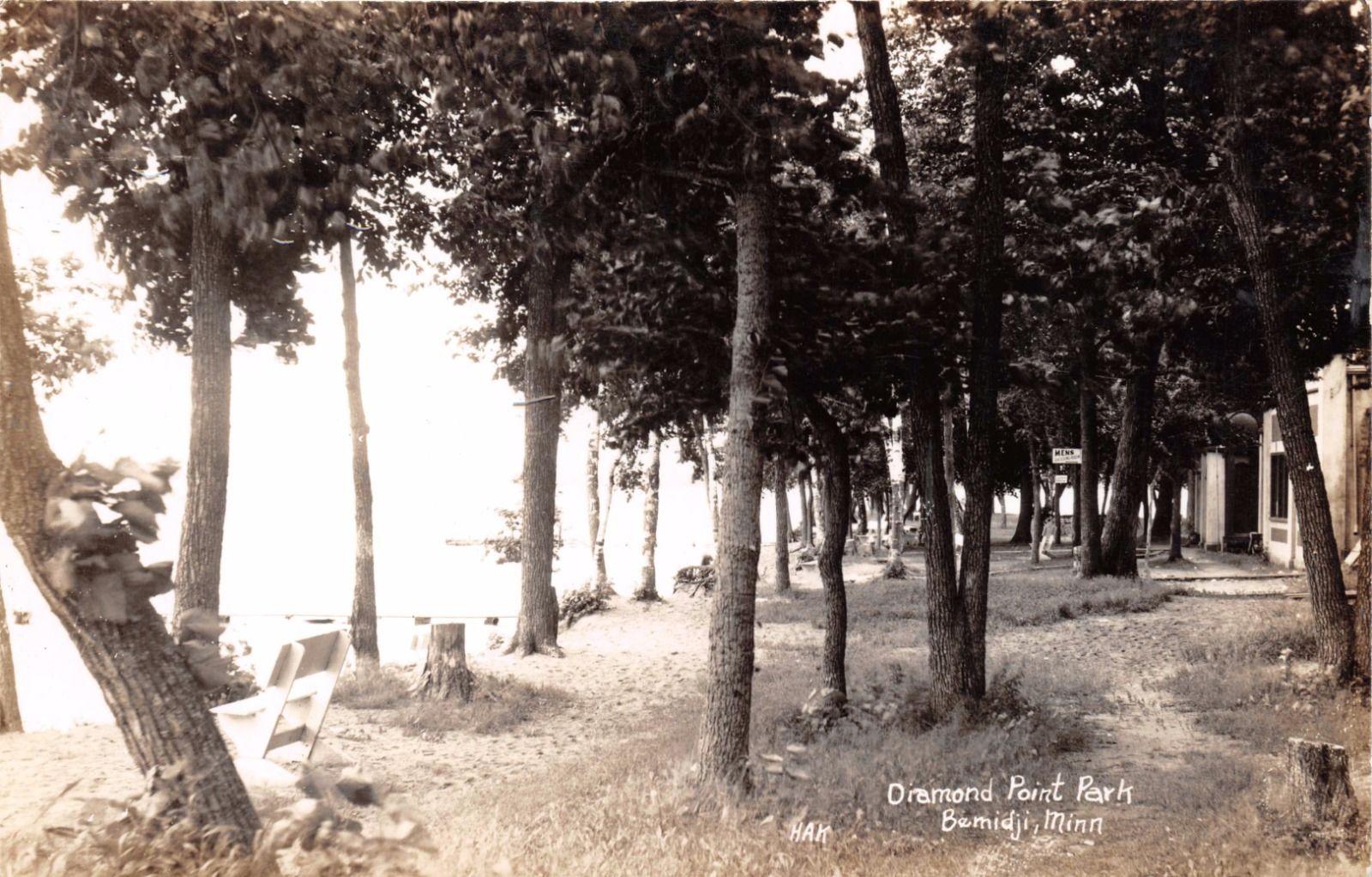 Bemidji Minnesota Diamond Point Parkhak Real Photo Postcard