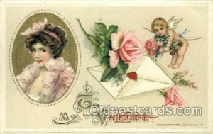 Publisher John Winsch Valentines Day 1913 light crease right top corner, ligh...