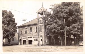OTSEGO ALLEGAN COUNTY MICHIGAN CITY HALL~FIRE HALL REAL PHOTO POSTCARD 1940-50s