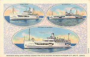 Michigan State Auto Ferry Vignettes~Sainte Ignace~Mackinaw City~Straits of Mac