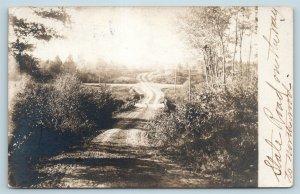 Postcard NJ Nutley 1911 View Dirt State Road to Northwood RPPC Real Photo U8