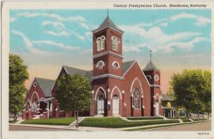 Kentucky Ky Postcard 1948 HENDERSON Central Presbyterian Church